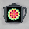 Blanket Flower Trivet Cast Iron Teapot Mandala Sacred Geometry Kaleidoscope A Ray of Hope
