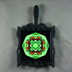 Butterfly Trivet Cast Iron Ceramic Tile Mandala Sacred Geometry Kaleidoscope On a Wing and a Prayer