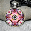 Rose Pendant Necklace Geometric Mandala Kaleidoscope Petals of Poise