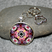 Rose Key Chain Sacred Geometry Mandala Petals of Poise