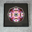 Rose Sacred Geometry Wall Decor Mandala Wall Art Petals Of Poise Framed