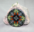 Oriole Glass Ornament Sacred Geometry Mandala Kaleidoscope Ornament of Orange