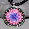Lily Pendant Mandala Sacred Geometry Kaleidoscope Innocent Flirtation