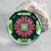 Butterfly Glass Paperweight Mandala Sacred Geometry Kaleidoscope Romantic Renaissance