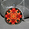 Dragonfly Pendant Necklace Boho Chic Mandala New Age Sacred Geometry Hippie Kaleidoscope Blaze of Glory