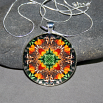 Butterfly Pendant Necklace Boho Chic Mandala New Age Sacred Geometry Kaleidoscope Deja Vu