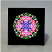 Lily Music Box With Ceramic Tile Top Boho Mandala New Age Sacred Geometry Innocent Flirtation