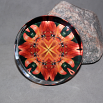 Dragonfly Glass Paperweight Boho Chic Mandala New Age Sacred Geometry Kaleidoscope Blaze of Glory