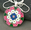 Daisy Pendant Necklace Boho Chic Mandala New Age Sacred Geometry Kaleidoscope A Love That Transcends