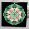 Pitcher Plant Decorative Ceramic Tile Sacred Geometry Mandala Kaleidoscope Picture Perfect
