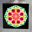 Blanket Flower Decorative Ceramic Tile Mandala Sacred Geometry Kaleidoscope A Ray of Hope