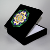 Daisy Music Box With Ceramic Tile Top Boho Mandala New Age Sacred Geometry Sunny Splendor