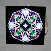 Starfish Decorative Ceramic Tile Mandala Sacred Geometry Kaleidoscope Naturally Nokomis
