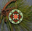 Ornament Christmas Ceramic Monarch Butterfly Mandala All Occasion Sacred Geometry Kaleidoscope Boho Chic New Age Bohemian Modern Unique Beloved Psyche
