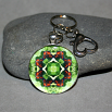 Butterfly Keychain Mandala Sacred Geometry Kaleidoscope On a Wing and a Prayer