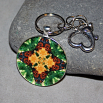 Butterfly Keychain Purse Charm Boho Chic Mandala New Age Sacred Geometry Hippie Kaleidoscope Butterfly Kisses