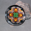 Butterfly Glass Paperweight Boho Chic Mandala New Age Sacred Geometry Kaleidoscope Winged Wonder