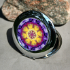 Pansy Compact Mirror Pocket Mirror Boho Chic Mandala New Age Sacred Geometry Hippie Kaleidoscope Endearing Memories