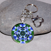 Iris Key Chain Sacred Geometry Mandala Circle of Purple