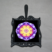 Pansy Trivet Cast Iron Boho Chic Mandala New Age Sacred Geometry Hippie Kaleidoscope Endearing Memories