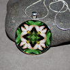 Butterfly Pendant Necklace Boho Chic Mandala New Age Sacred Geometry Kaleidoscope Subtle Beauty