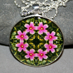 Hibiscus Pendant Boho Mandala New Age Sacred Geometry Kaleidoscope Endless Love
