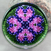 Heart Glass Paperweight Sacred Geometry Mandala Kaleidoscope Love Struck