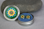 Mandala Post Earrings Boho Chic Sacred Geometry Zen Hippie Kaleidoscope Gypsy New Age Unique Gift For Her Echoes Of My Sympathetic Soul