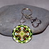 Honeybee Key Chain Sacred Geometry Mandala BEEmidji