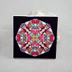 Cardinal Bird Decorative Ceramic Tile Coaster Kaleidoscope Scarlet Soloist