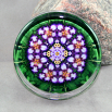 Iris Glass Paperweight Sacred Geometry Mandala Kaleidoscope Faithfully Yours