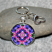 Wildflower Key Chain Sacred Geometry Mandala Pink Providence