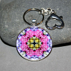 Rose Keychain Bag Charm Boho Chic Mandala New Age Sacred Geometry Kaleidoscope A Fanciful Fondness