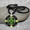 Bear Pendant Sacred Geometry Mandala Kaleidoscope Necklace Medallion Bear Essentials