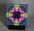 Sale Special Sample Lilac Columbine Decorative Ceramic Tile Coaster Geometric Kaleidoscope Wonderfully Wild 2