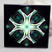 Gecko Decorative Ceramic Tile Coaster Geometric Kaleidoscope Trivet Pomaikai Good Luck