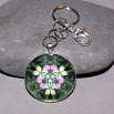 Lady Slipper Key Chain Sacred Geometry Mandala Dancing Ladies