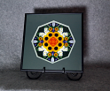 Sunflower Mandala Kaleidoscope Framed Fine Art Print With Mat Kaleidoscopic Nature Photography Sunflower Photograph Unique Wall Decor Perpetual Hope