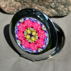 Rose Compact Mirror Pocket Mirror Boho Chic Mandala New Age Sacred Geometry Hippie Kaleidoscope A Fanciful Fondness