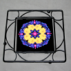 Daisy Trivet Black Iron Boho Chic Mandala New Age Sacred Geometry Hippie Kaleidoscope Your Are My Sunshine