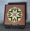 Woodpecker Flicker Mandala Kaleidoscope Fine Art Print With Mat Kaleidoscopic Nature Photography Wildlife Photograph Unique Wall Decor  Friendly Flicker