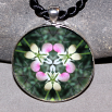 Lady Slipper Pendant Mandala Sacred Geometry Kaleidoscope Dancing Ladies