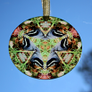 Nuthatch Glass Sun Catcher Sacred Geometry Mandala Kaleidoscope Nestling Nuthatch