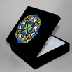 Butterfly Music Box With Ceramic Tile Top Boho Mandala New Age Sacred Geometry Auroras Aria