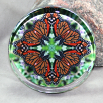 Butterfly Paperweight Mandala Sacred Geometry Kaleidoscope Jeweled Jubilee