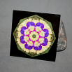 Pansy Ceramic Tile Boho Chic Mandala New Age Sacred Geometry Hippie Kaleidoscope Blissful Beliefs