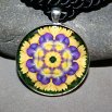 Pansy Pendant Necklace Boho Chic Mandala New Age Sacred Geometry Kaleidoscope Blissful Beliefs