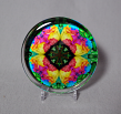 Rainbow Rose Glass Paperweight Boho Chic Mandala Chakra New Age Sacred Geometry Kaleidoscope Unique Boss Gift Teacher Gift Coworker Gift Ornate Opus