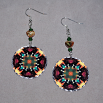 Honeybee Earrings Dangle Boho Chic Mandala New Age Sacred Geometry Hippie Kaleidoscope BEElieve