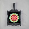 Blanket Flower Trivet Cast Iron Mandala Sacred Geometry Kaleidoscope A Ray of Hope